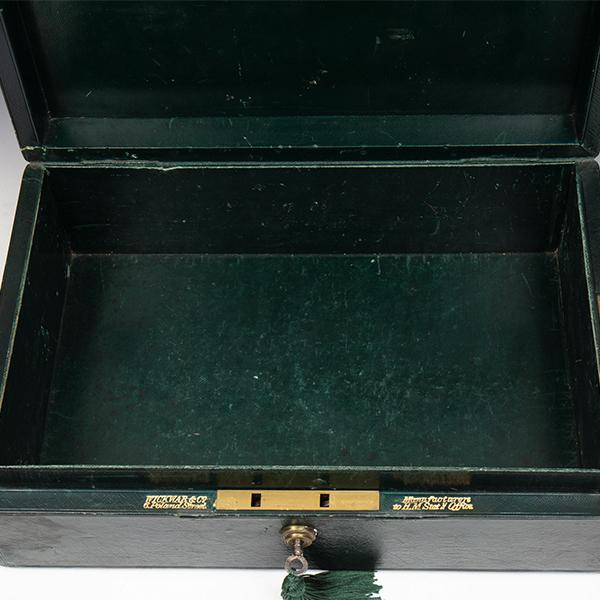 Victorian Wickwar Green Despatch Box